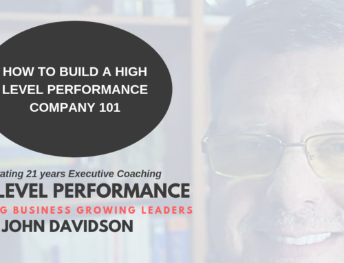 How to Build a High Level Performance Company 101